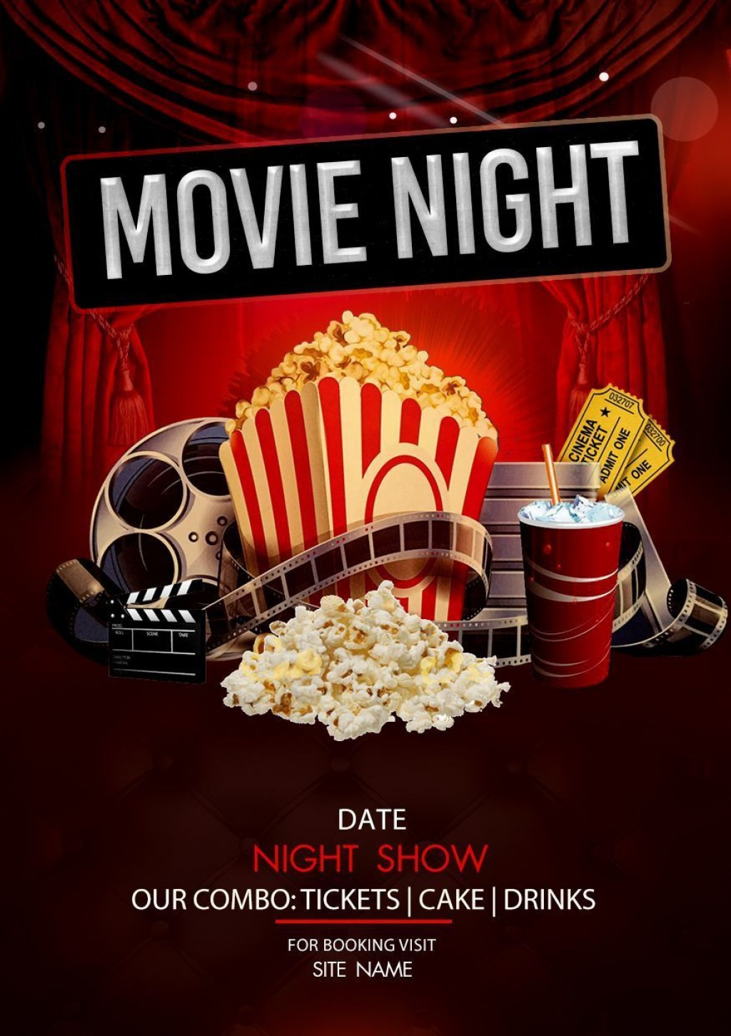 002 Dreaded Movie Night Flyer Template Image  Templates Free Microsoft WordLarge