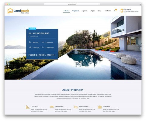 002 Dreaded Real Estate Template Wordpres Picture  Homepres - Theme Free Download Realtyspace480