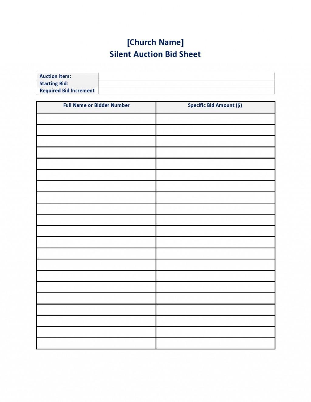 002 Dreaded Silent Auction Bid Sheet Template Free High Def  Pdf DownloadLarge