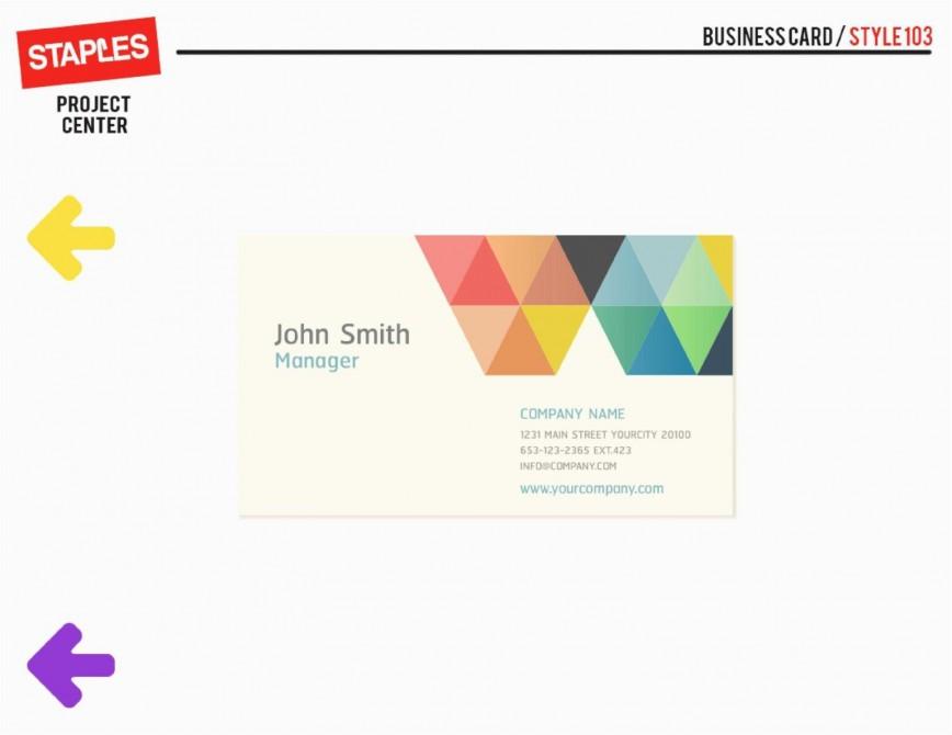 002 Dreaded Staple Busines Card Template Idea  Word Brand Heavyweight868