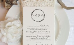 002 Dreaded Thank You Note For Wedding Guest Template High Def  Card