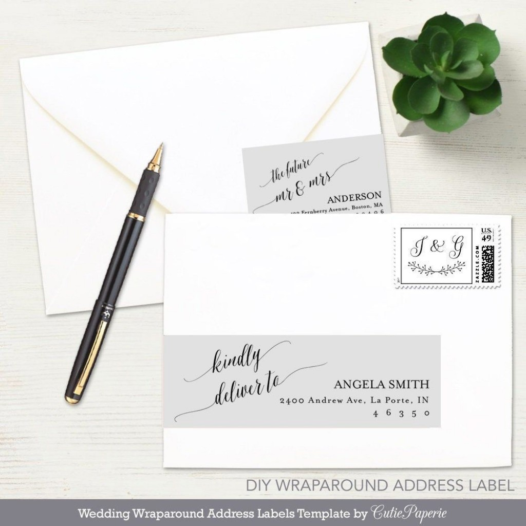 002 Dreaded Wedding Addres Label Template Example  Free PrintableLarge