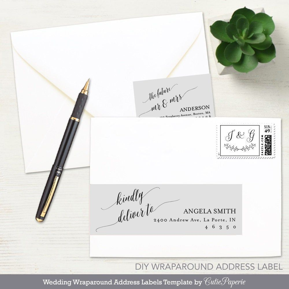 002 Dreaded Wedding Addres Label Template Example  Free PrintableFull