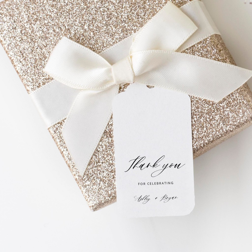 002 Dreaded Wedding Favor Tag Template Highest Quality  Templates Editable Free Party PrintableLarge
