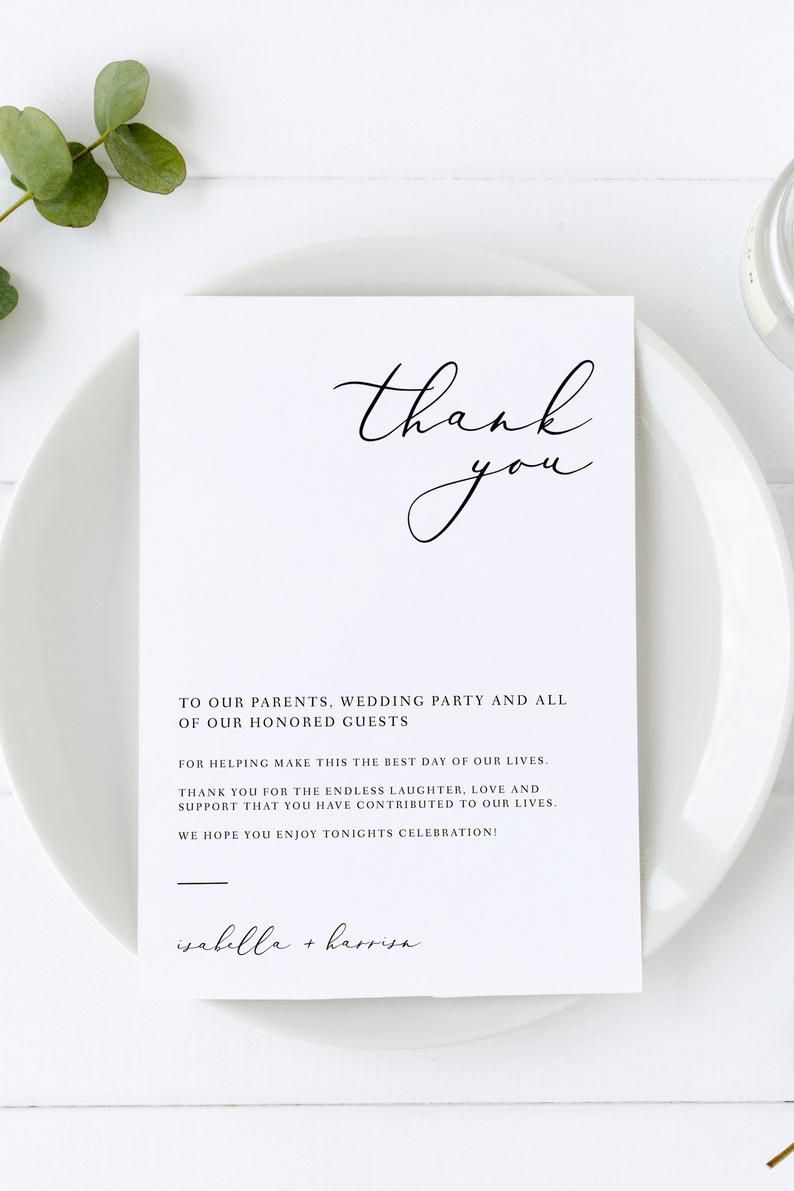002 Dreaded Wedding Thank You Card Templates. Inspiration  Template Etsy Word PublisherFull