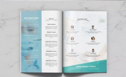 002 Dreaded Word Brochure Template Download Free Example  3 Fold Travel Tri