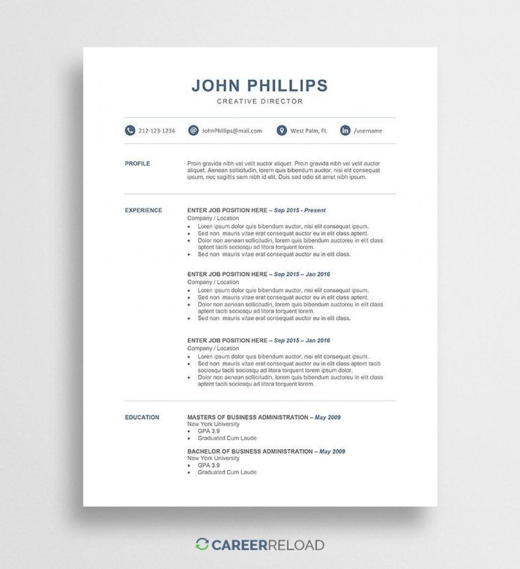 002 Dreaded Word Resume Template Free Image  Microsoft 2010 Download 2019 ModernLarge