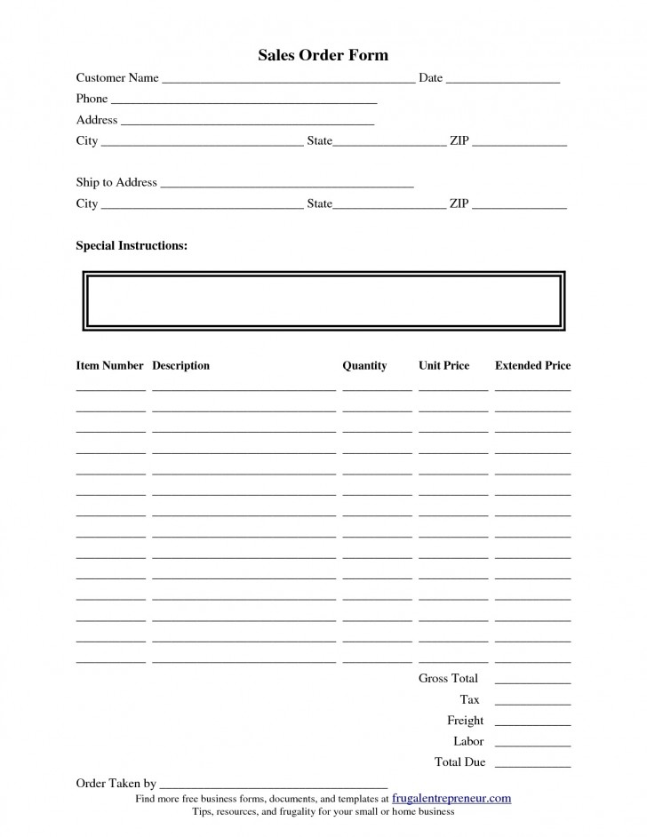 002 Dreaded Work Order Form Template High Def  Request Excel Advertising Company Free728