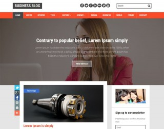 002 Excellent Best Free Responsive Blogger Template Download Image 320