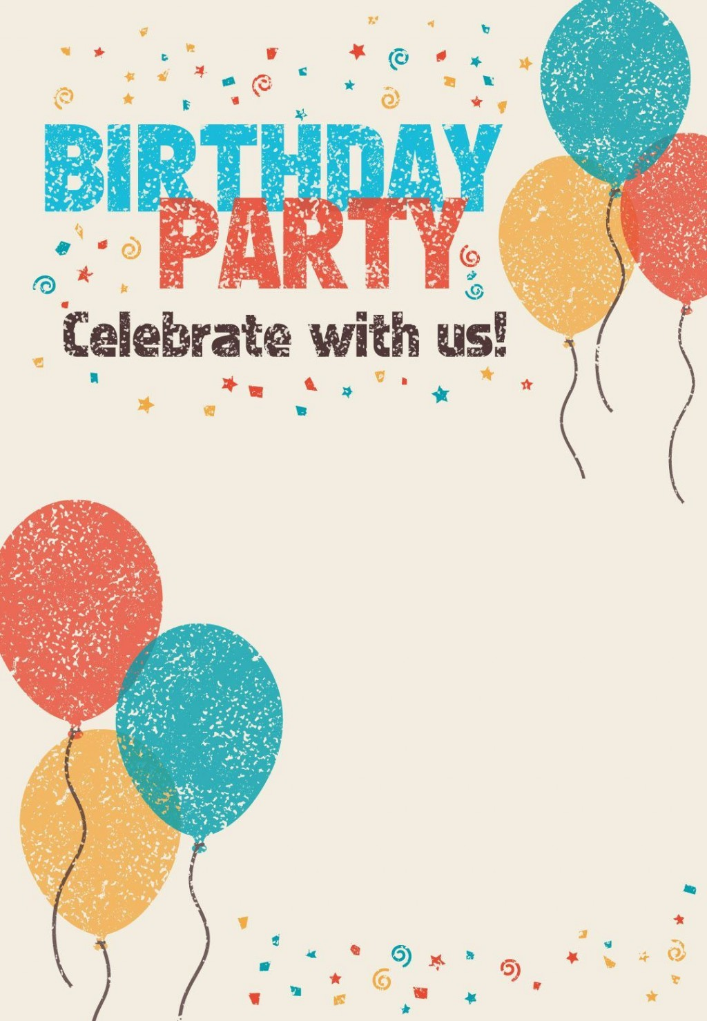 002 Excellent Free Birthday Party Invitation Template Design  Templates Printable 16th Australia UkLarge