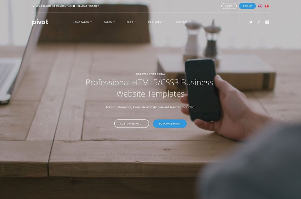 002 Excellent Free Busines Website Template Download Html And Cs Image  CssLarge