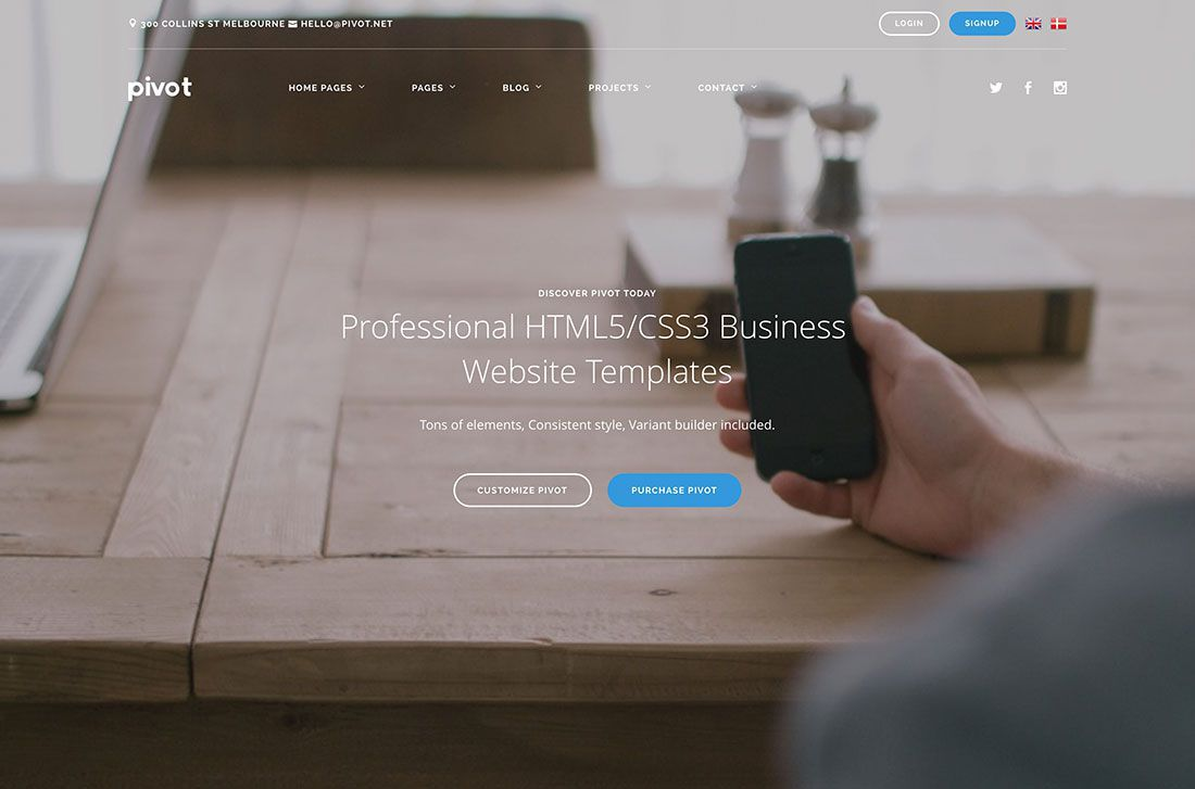 002 Excellent Free Busines Website Template Download Html And Cs Image  CssFull
