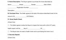 002 Excellent Horse Bill Of Sale Template Idea  Australia Agreement