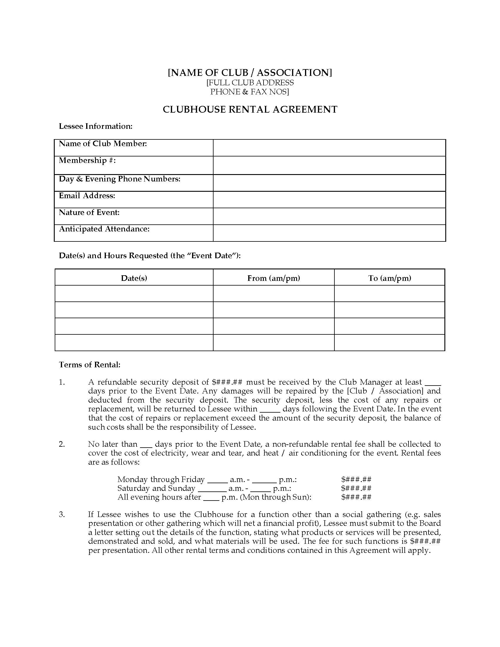 002 Excellent House Rental Agreement Template Highest Quality  Home Free Ireland FormFull