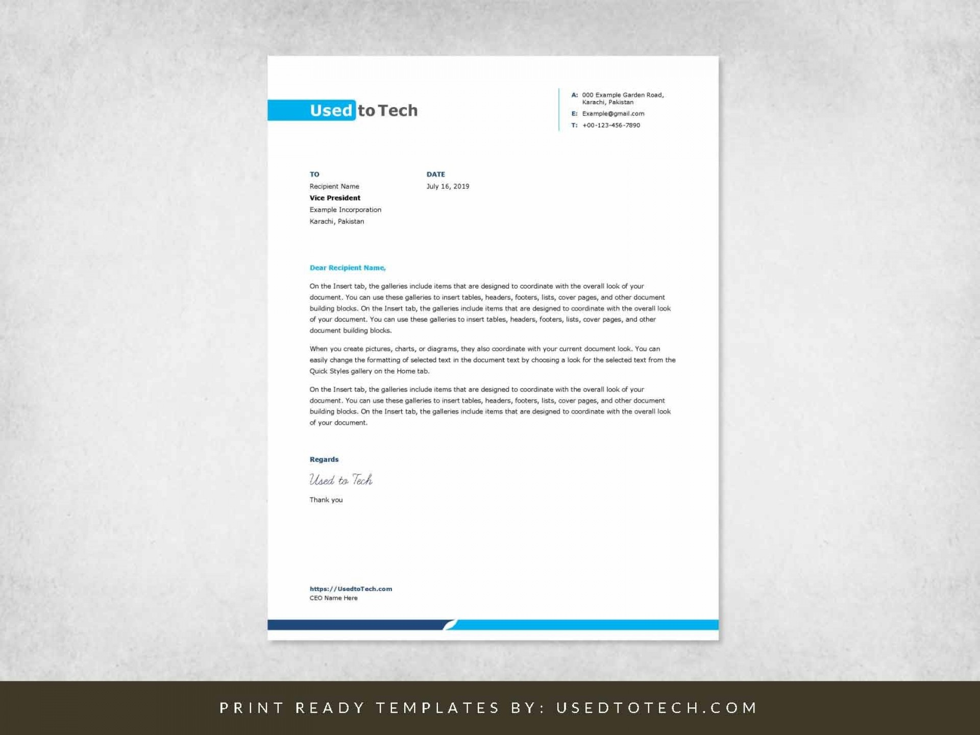 002 Excellent Letterhead Format In M Word Free Download Idea 1920
