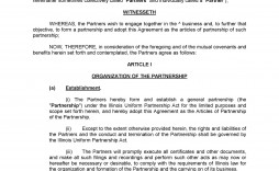 002 Excellent Limited Company Partnership Agreement Template Uk Image
