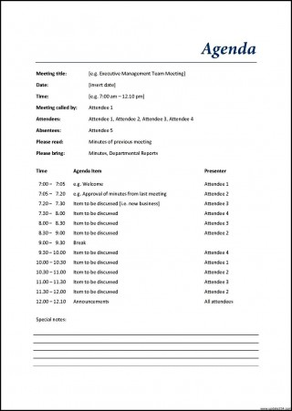 002 Excellent Meeting Agenda Template Word High Def  Microsoft Board 2010 Example320