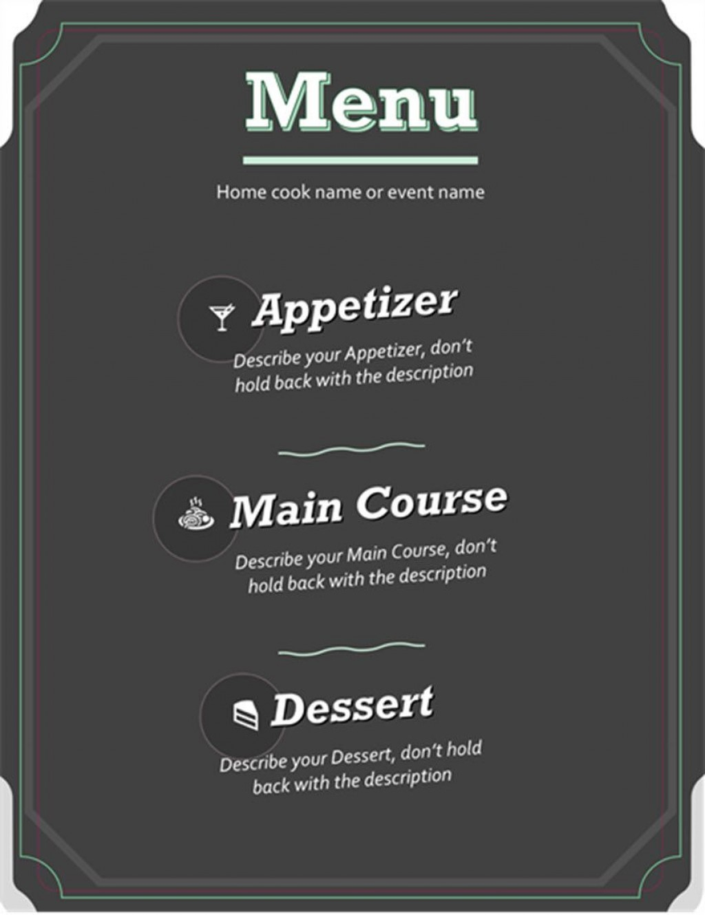 002 Excellent Menu Template Free Download For Restaurant Highest Clarity  Word PsdLarge