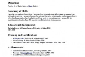 002 Excellent Nursing Student Resume Template Inspiration  Free Word