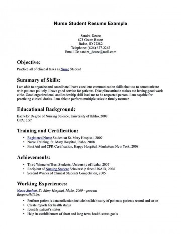002 Excellent Nursing Student Resume Template Inspiration  Free Word360