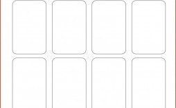 002 Excellent Playing Card Size Template Sample  Game Standard