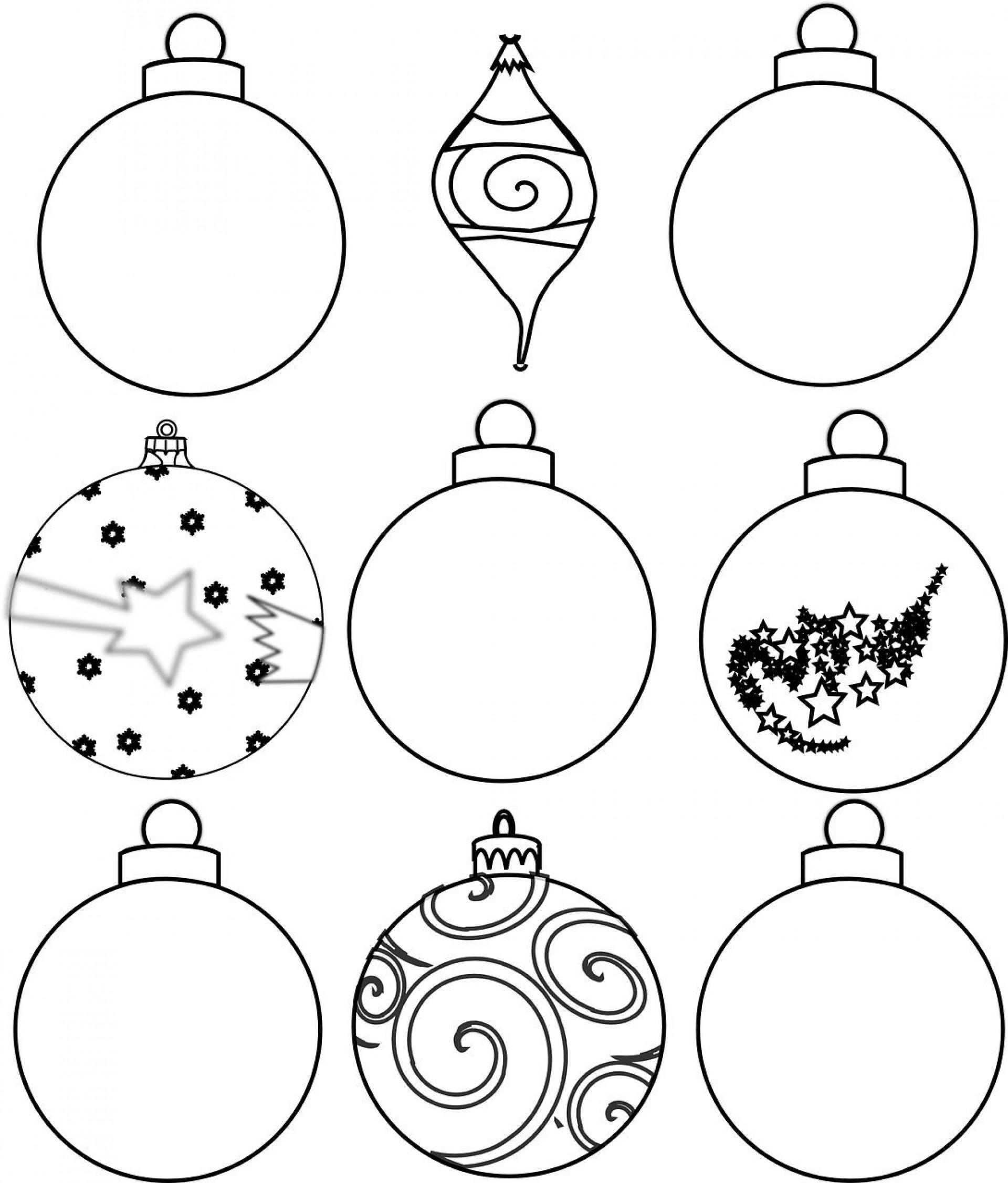 002 Excellent Printable Christma Ornament Template Sample  Templates Stencil Felt Pattern Tree1920