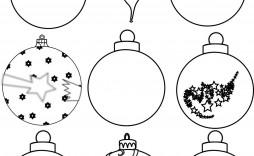 002 Excellent Printable Christma Ornament Template Sample  Templates Stencil Felt Pattern Tree