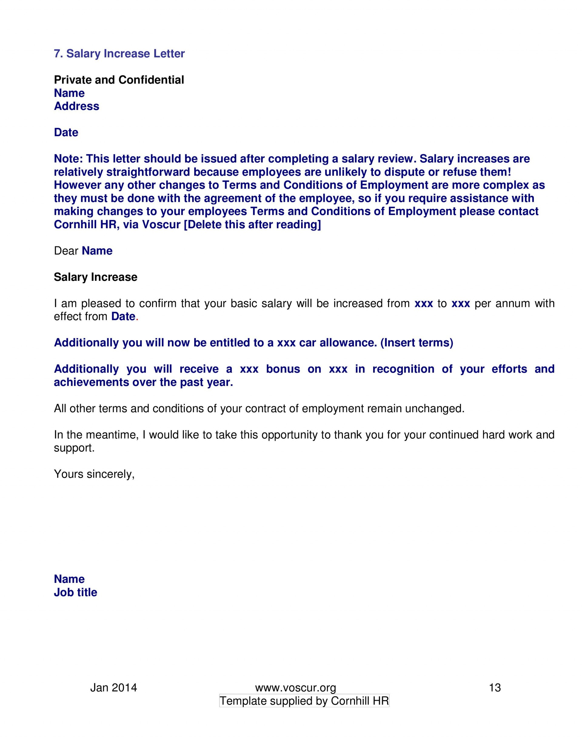 002 Excellent Salary Increase Letter Template High Resolution  From Employer To Employee Australia No For1920