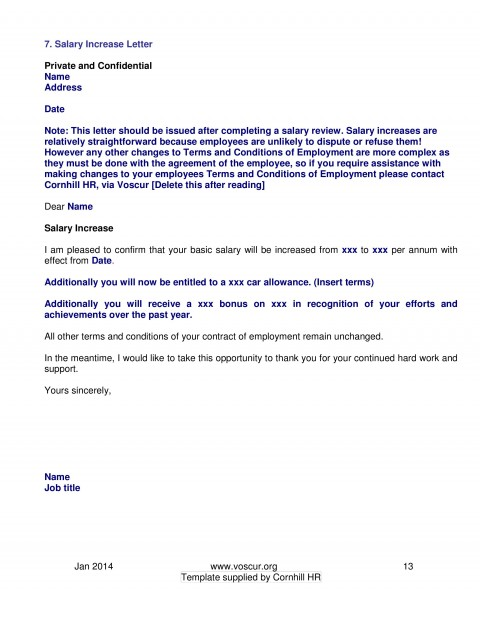 002 Excellent Salary Increase Letter Template High Resolution  From Employer To Employee Australia No For480