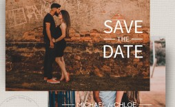 002 Excellent Save The Date Template Photoshop High Resolution  Adobe Card