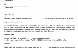 002 Excellent Simple Loan Agreement Template Word High Def  Format Personal Microsoft