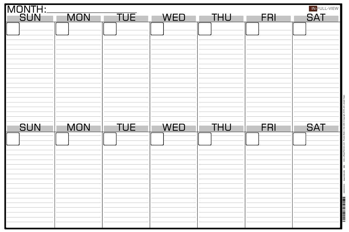 002 Excellent Two Week Calendar Template Photo  2 Word PrintableFull
