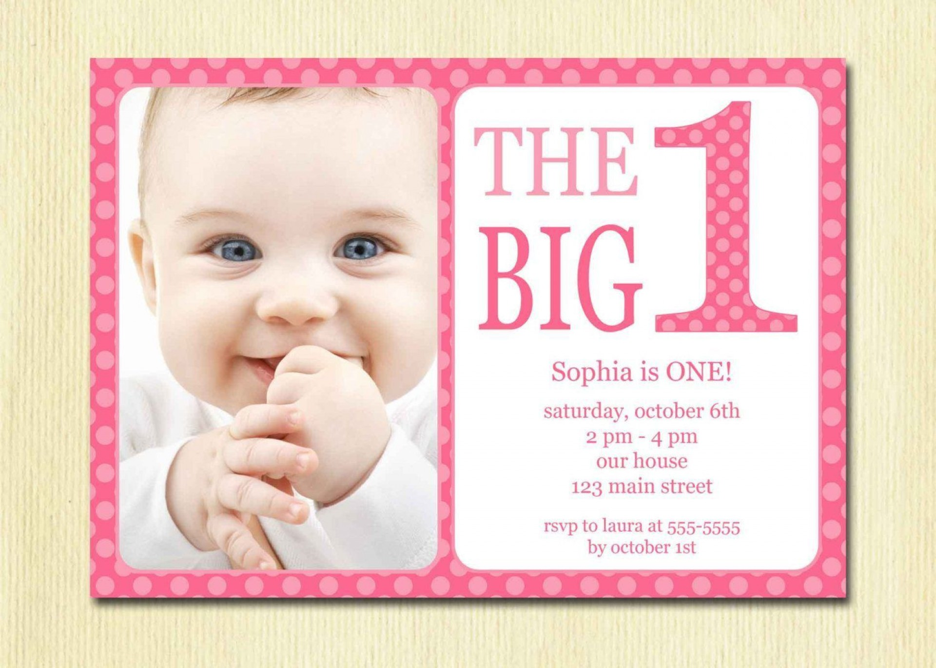 002 Exceptional 1st Birthday Invitation Template Image  Background Design Blank For Girl First Baby Boy Free Download Indian1920