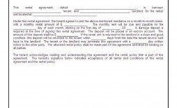002 Exceptional Basic Rental Agreement Template Picture  Tenancy Simple Word Doc