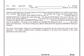 002 Exceptional Basic Rental Agreement Template Picture  Simple Word Tenancy Free