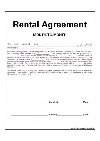 002 Exceptional Basic Rental Agreement Template Picture  Simple Word Tenancy Free320