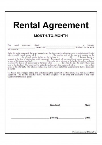 002 Exceptional Basic Rental Agreement Template Picture  Simple Word Tenancy Free360