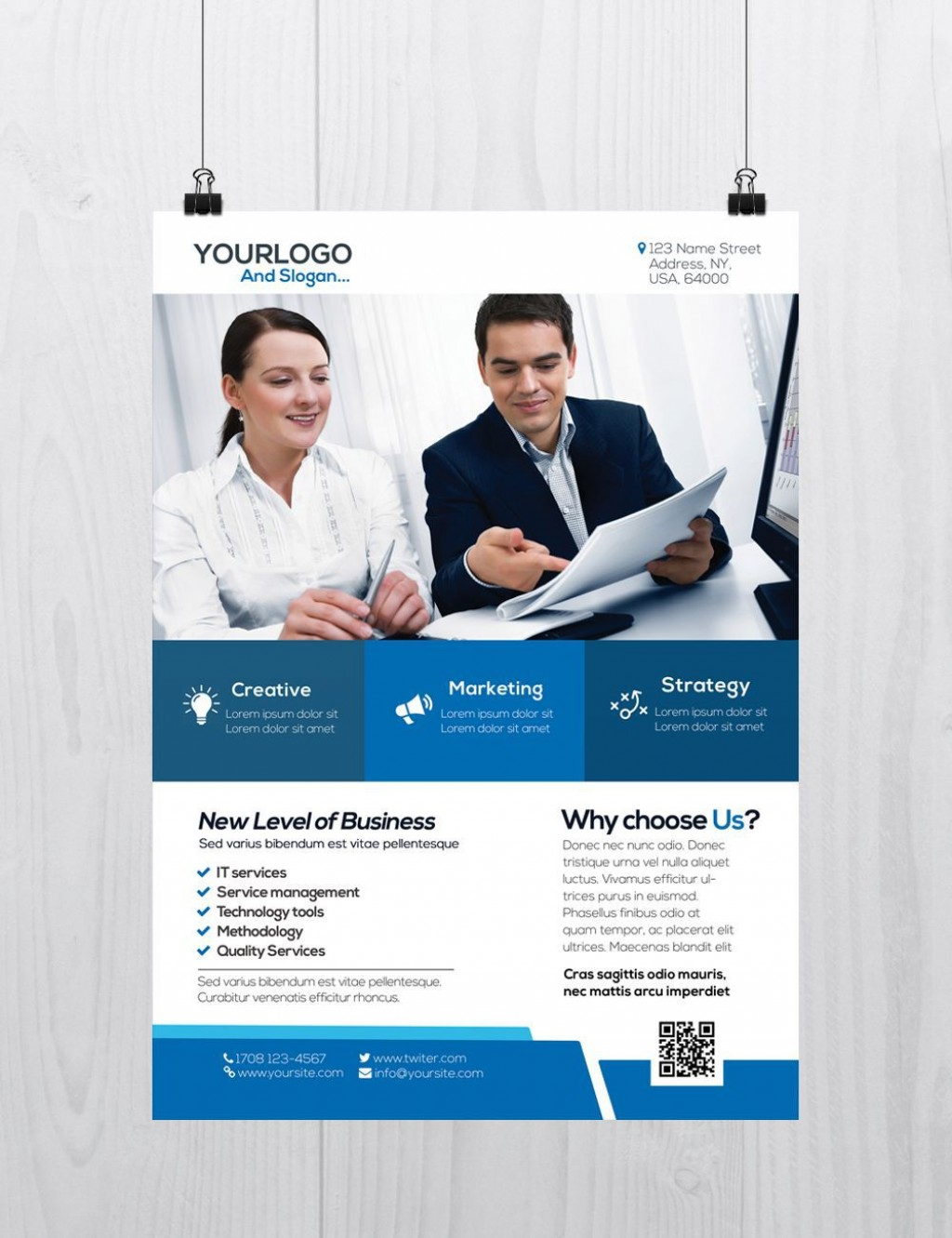 002 Exceptional Busines Flyer Template Free Download Design Large
