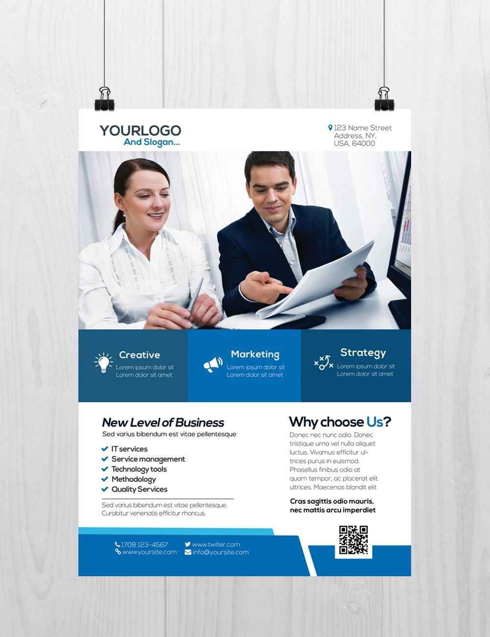 002 Exceptional Busines Flyer Template Free Download Design Full