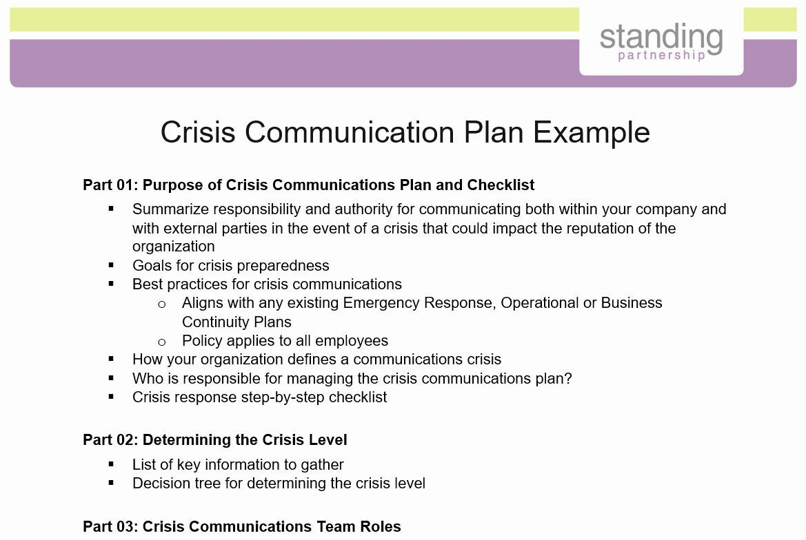 002 Exceptional Crisi Communication Plan Template Inspiration  For Higher Education NonprofitFull