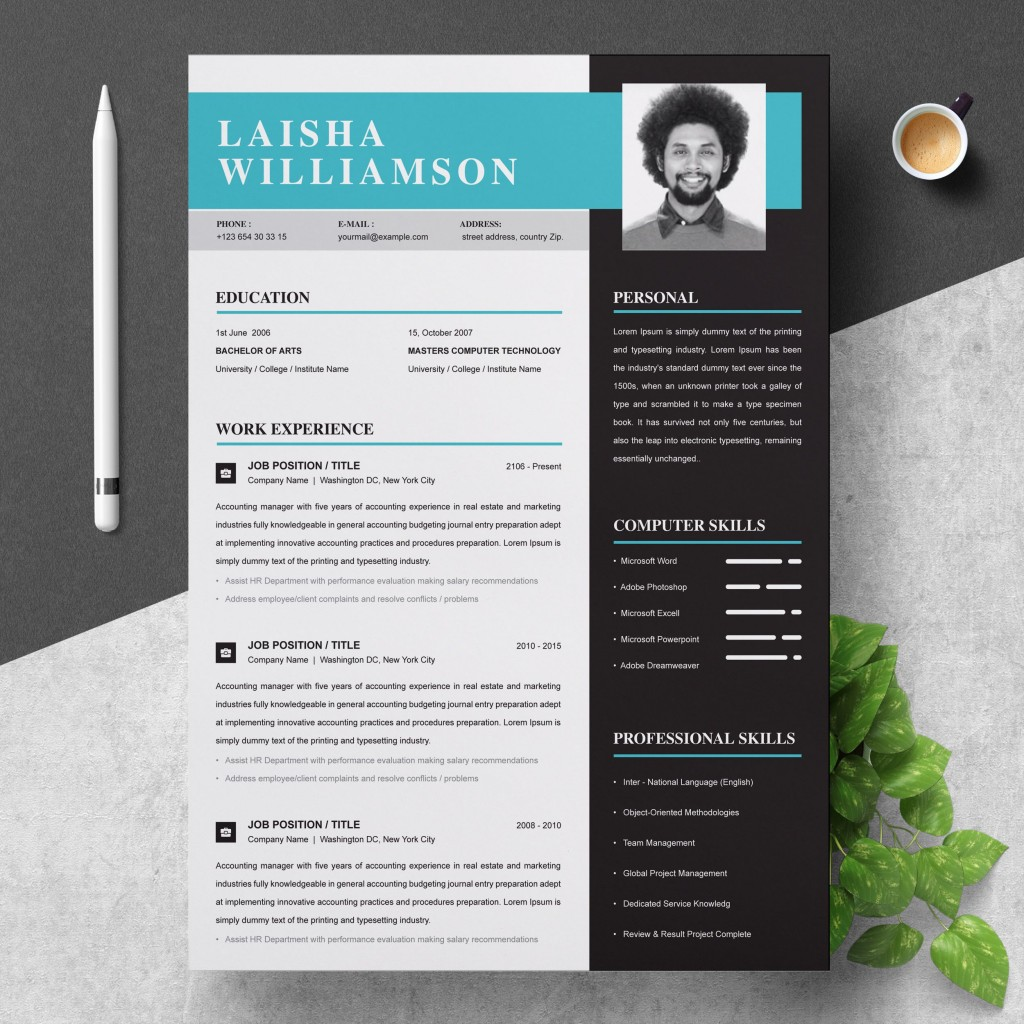 002 Exceptional Download Free Resume Template For Mac Page Concept  PagesLarge