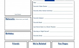 002 Exceptional Fake Facebook Page Template Highest Clarity  Busines Microsoft Word Create A