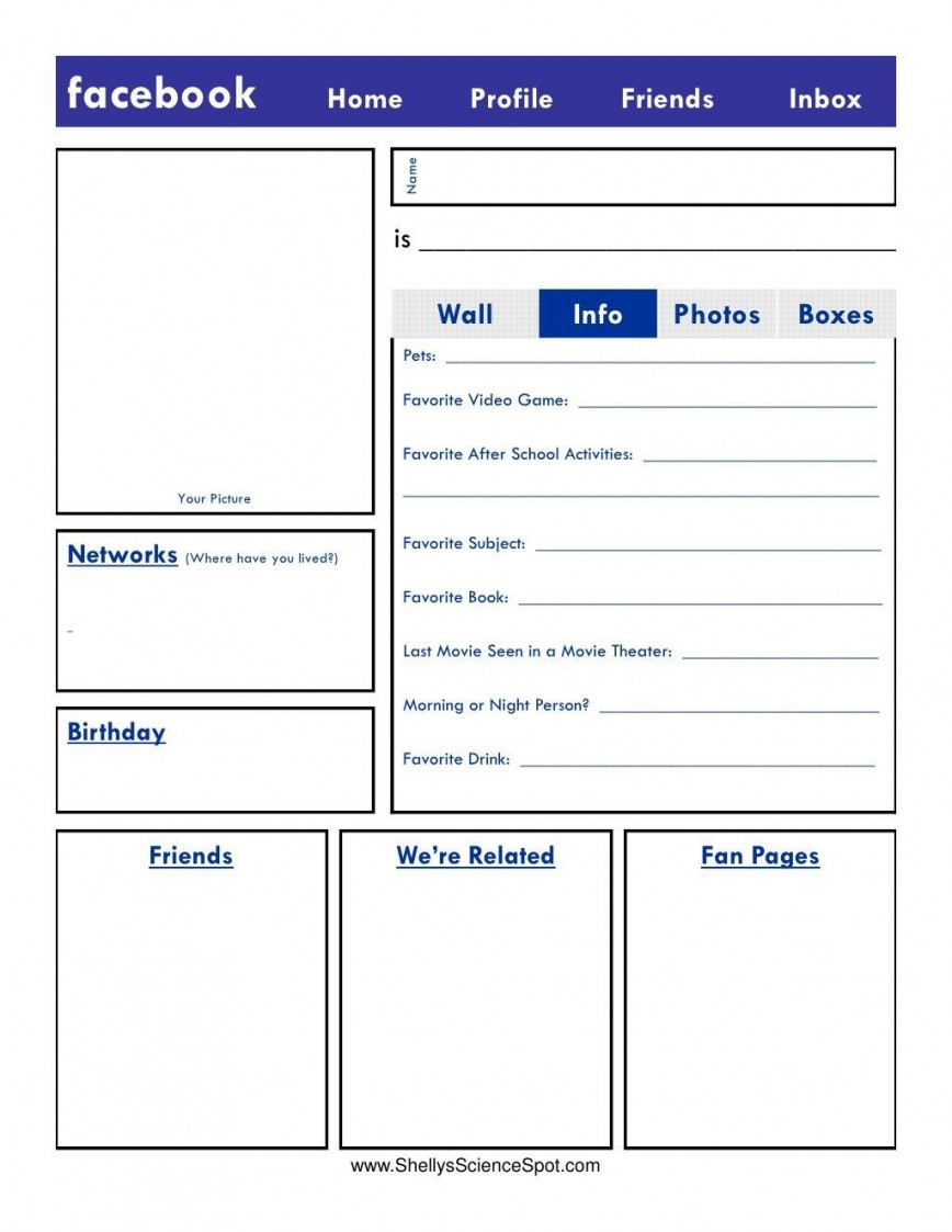 002 Exceptional Fake Facebook Page Template Highest Clarity  Create A Microsoft Word