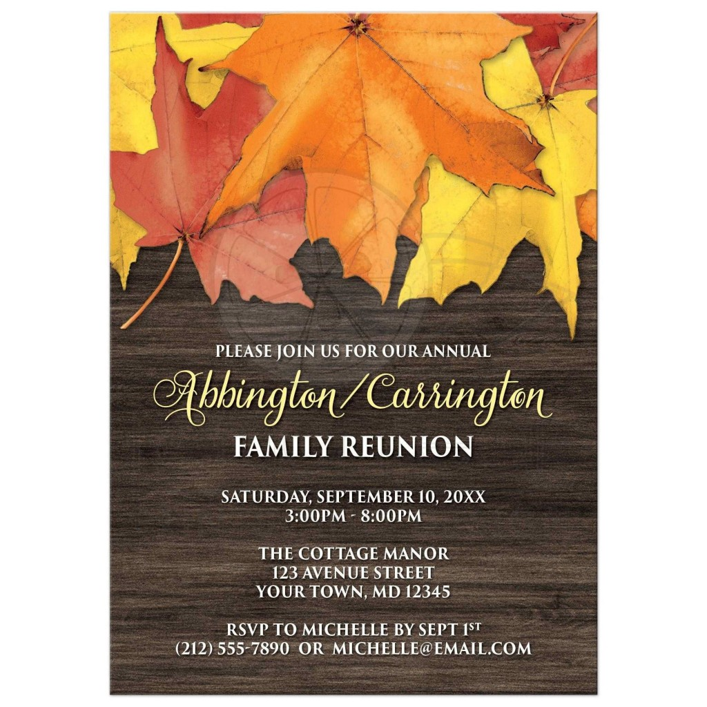002 Exceptional Family Reunion Invitation Card Template High Def Large