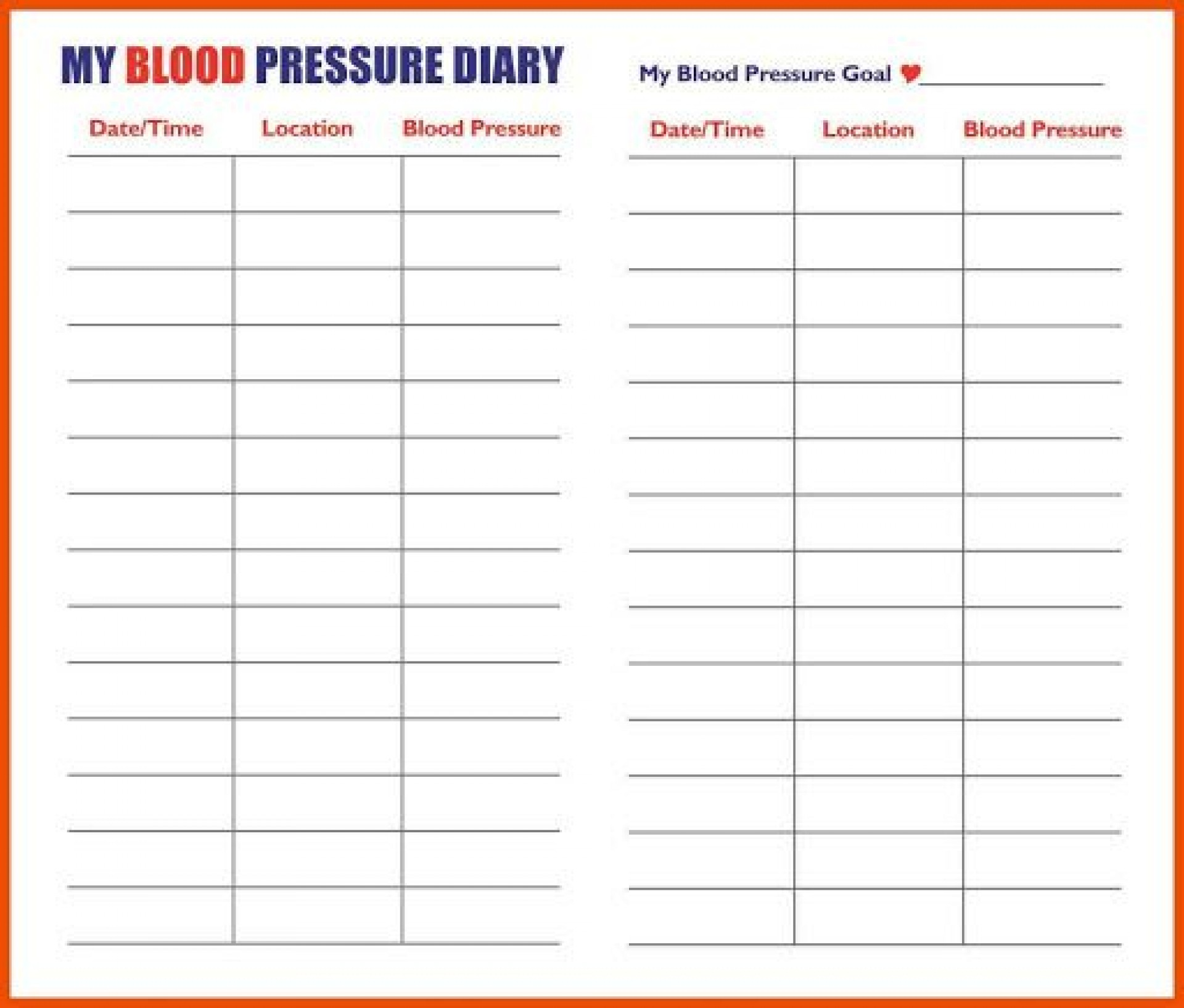 002 Exceptional Free Blood Sugar Log Template Pdf Picture 1920