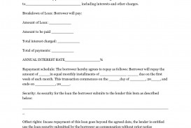 002 Exceptional Free Loan Agreement Template Word Concept  Personal Microsoft South Africa