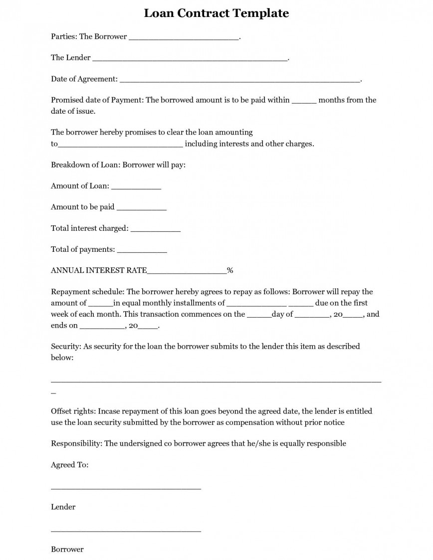 002 Exceptional Free Loan Agreement Template Word Concept  Simple Uk Personal Microsoft South Africa868