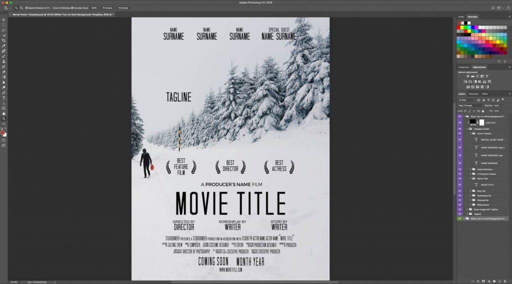002 Exceptional Free Photoshop Movie Poster Template Design  TemplatesLarge