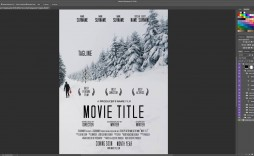 002 Exceptional Free Photoshop Movie Poster Template Design  Templates