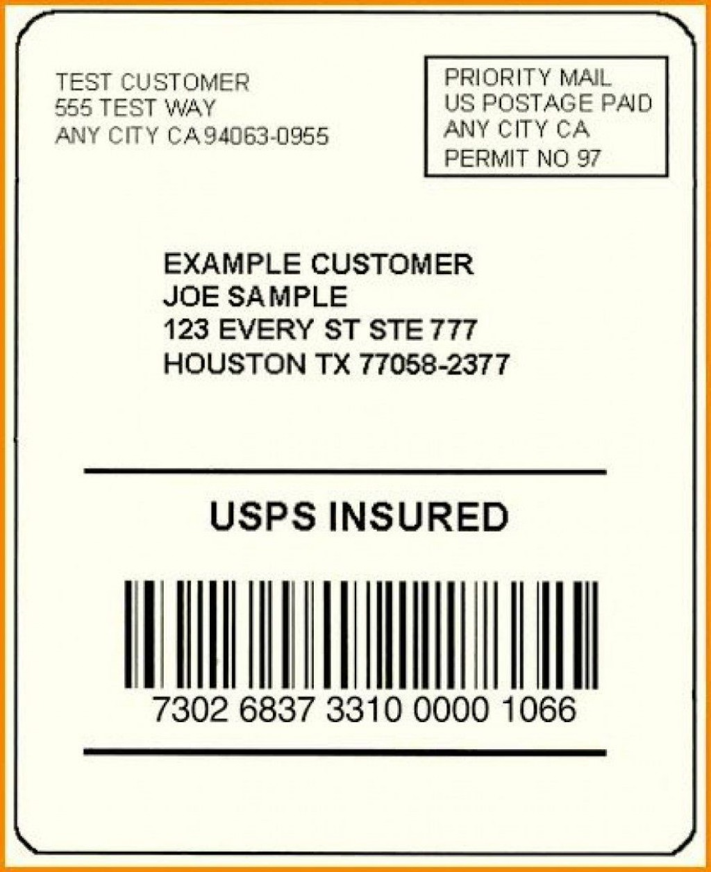 002 Exceptional Free Usp Shipping Label Template Sample Large